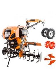 Motosapa Ruris 1001KSD, 10 CP, diesel, 125 cm, pornire electrica + roti cauciuc + roti metalice + plug arat reversibil