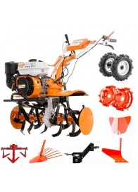 Motosapa Ruris 731 ACC, 7.5 CP, benzina, 83 cm + roti cauciuc + roti metalice + plug bilonat + plug arat + plug scos cartofi + cultivator + adaptor plug
