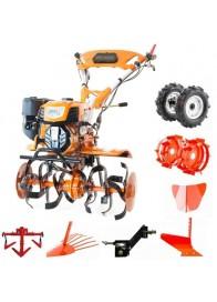 Motosapa Ruris 732 ACC, 7.5 CP, benzina, 83 cm + roti cauciuc + roti metalice + plug bilonat + plug arat + plug scos cartofi + cultivator + adaptor plug
