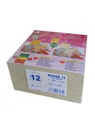 Set 25 placi filtrante 20x20 cm ROVER 12, clarifiere medie usoara