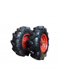 Set roti de cauciuc SZENTKIRALY 3.50-6, ax cilindric 24 mm