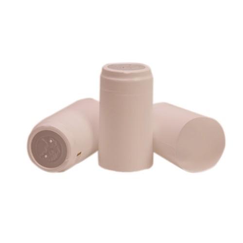 Capisoane termocontractibile PVC 31 x 60 mm - alb