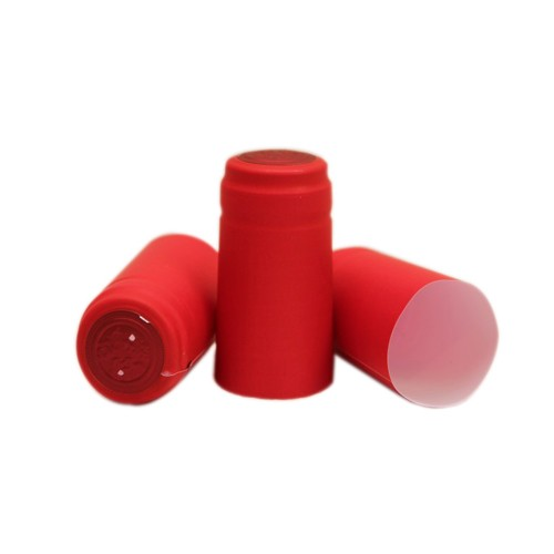 Capisoane termocontractibile PVC 31 x 60 mm - rosu