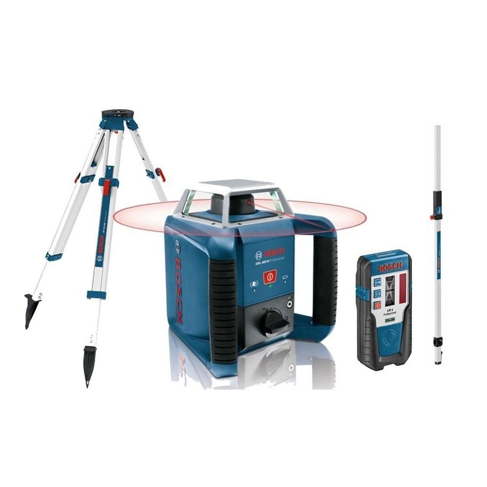 Nivela laser rotativa Bosch GRL 400 H + Stativ BT 170 + Rigla de masurare GR 240