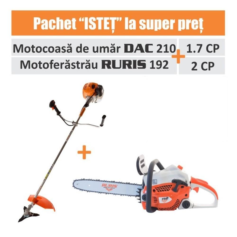 Pachet ISTET (Motocoasa DAC 210 + Motoferastrau RURIS 192)