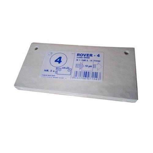 Placi filtrante 20x10 cm ROVER 4, degrosare medie