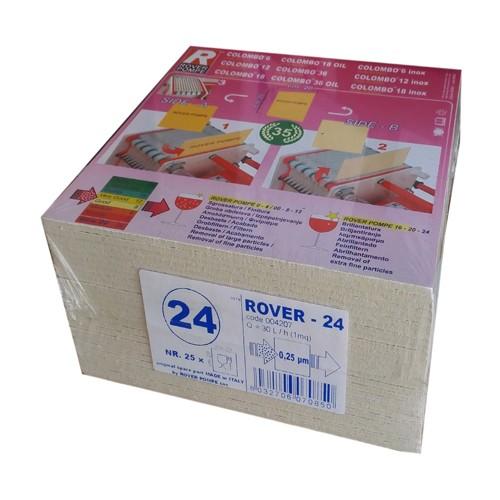 Placi filtrante 20x20 cm ROVER 24, filtrare super-fina